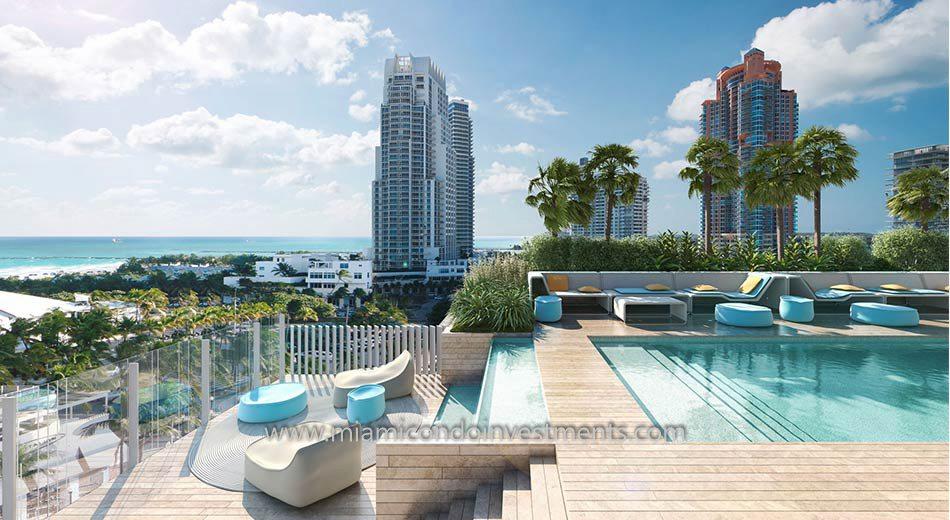 Glass Miami Beach condos pool