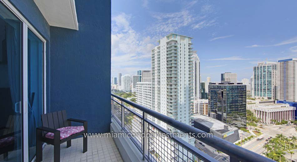 Infinity at Brickell condo balcony