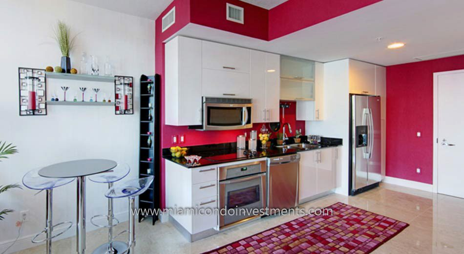 Miami condos kitchen