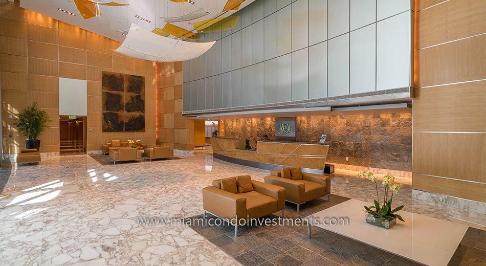 Jade at Brickell Bay lobby
