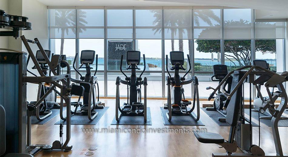 Jade at Brickell Bay fitness center
