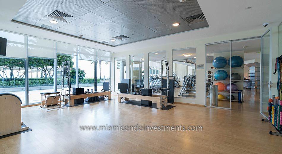 Pilates and aerobics room