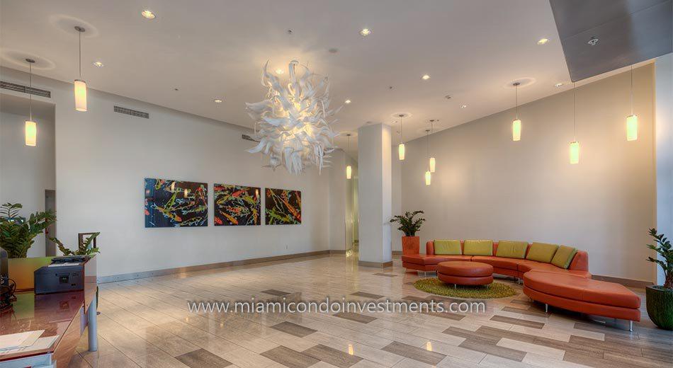 Meridian Lofts condos lobby