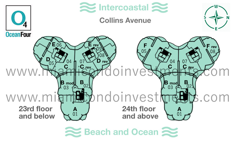 Ocean Four Sunny Isles site plan