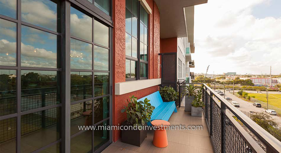Parc Lofts Miami Balcony