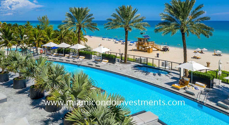Porsche Tower Miami pool deck