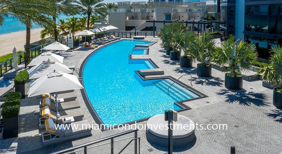 Porsche Tower Miami heated pool