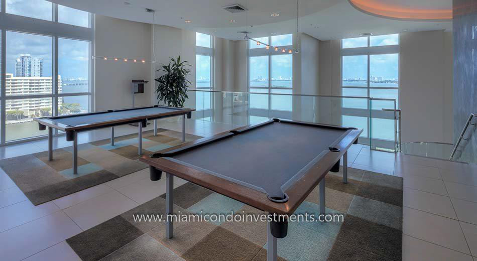 miami condos edgewater billiards room