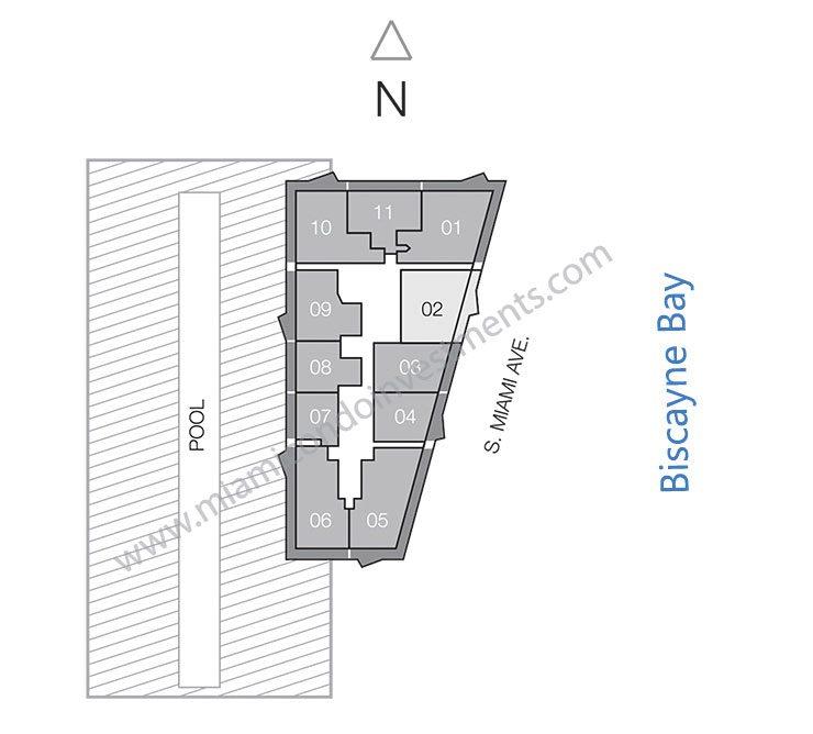SLS Brickell condos site plan