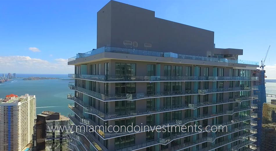 SLS Brickell condos view east
