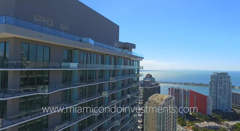 SLS Brickell condos view south