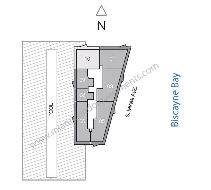 SLS Brickell lower penthouse site plan