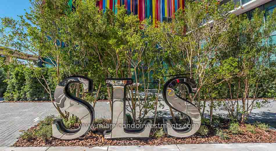 SLS sign at SLS Brickell