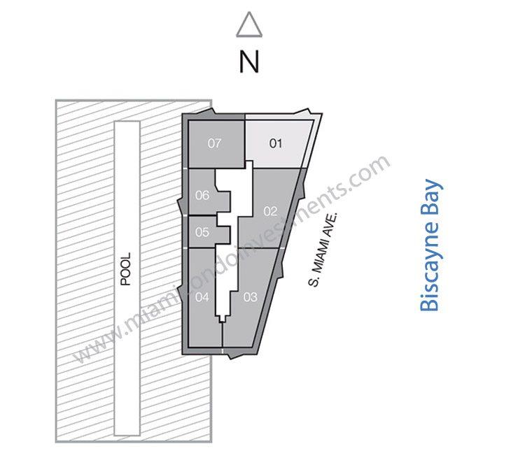 SLS Brickell upper penthouse site plan