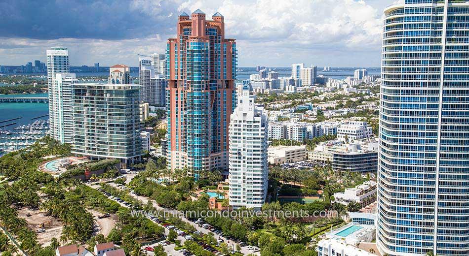 South Pointe Towers condos miami marina