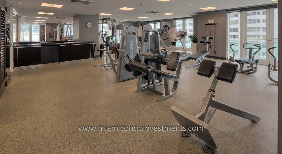 The Plaza on Brickell east tower gym