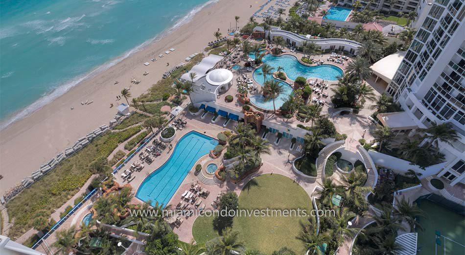 Trump Palace condos sunny isles beach pool
