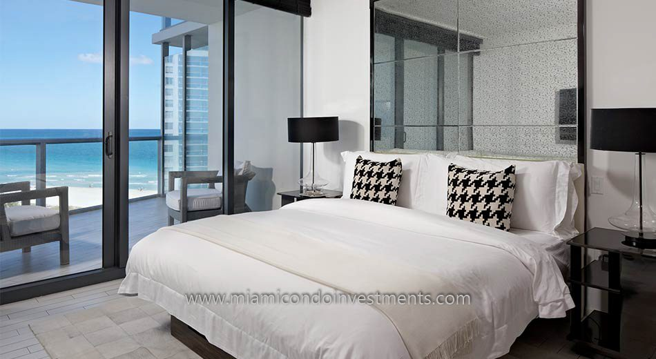 W South beach condos bedroom
