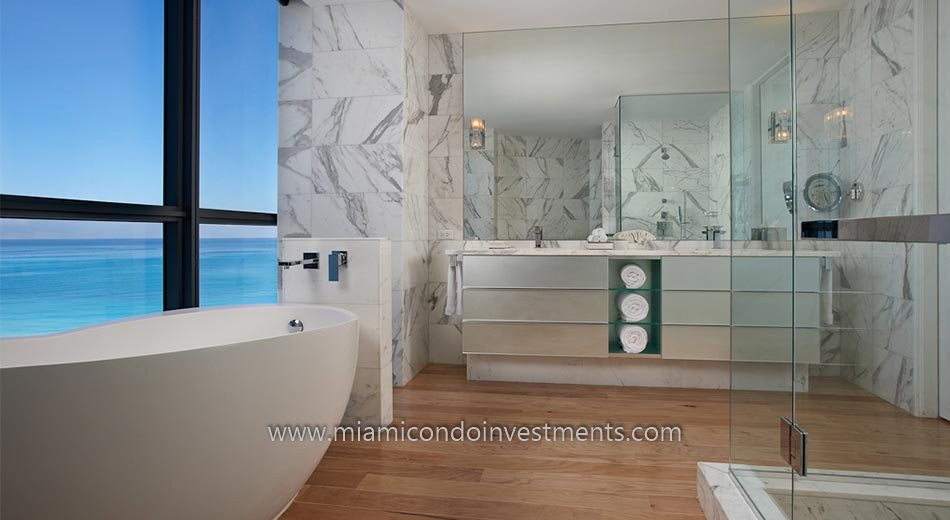 W South Beach condos bathroom