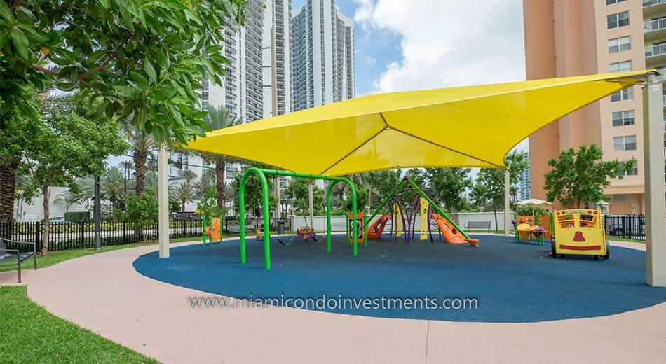 Children's playground in Sunny Isles Beach