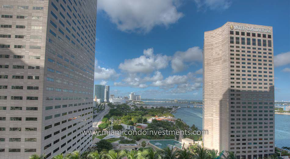 view of Bayfront Park in Downtown Miami