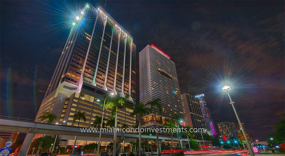 Downtown Miami at night