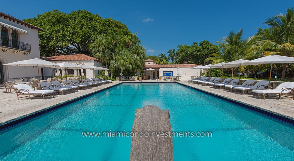 Swimming Pool at the Vanderbilt Mansion on Fisher Island