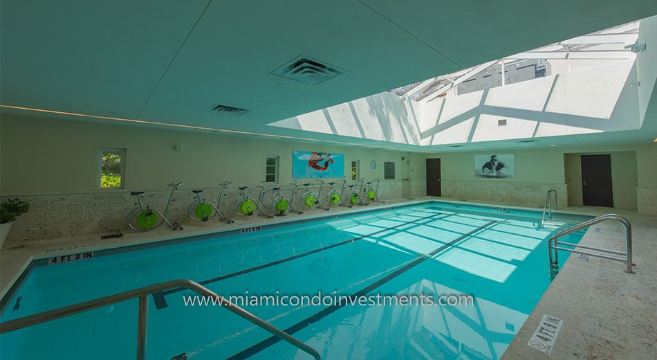 Lap pool at the Fisher Island Spa Internazionale