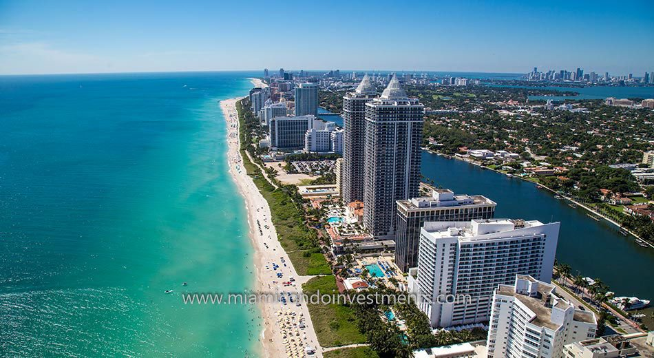 Miami Beach condos view south