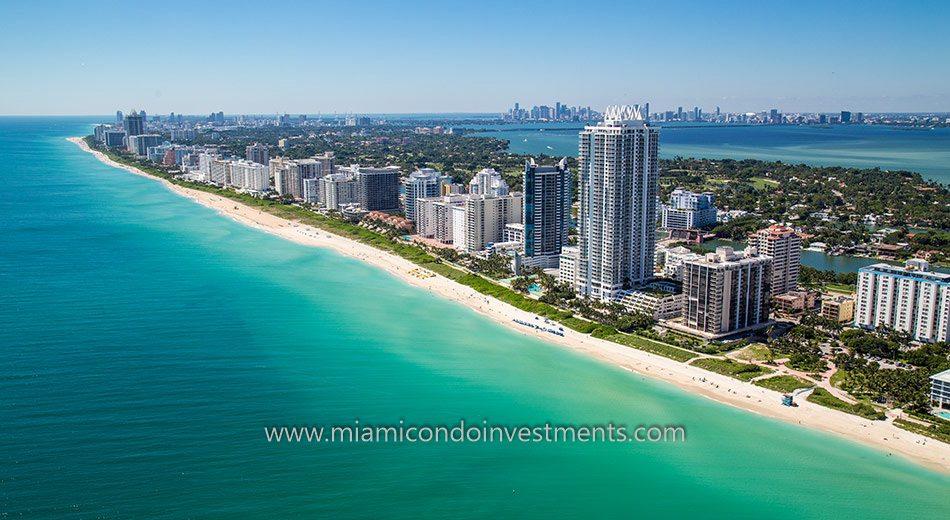 Miami Beach condos skyline