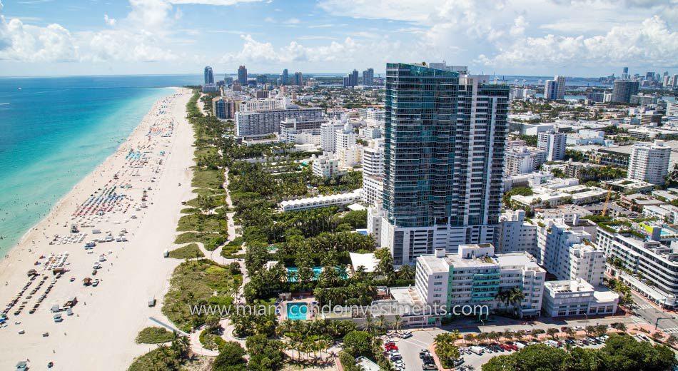 South Beach Condos Aerial View