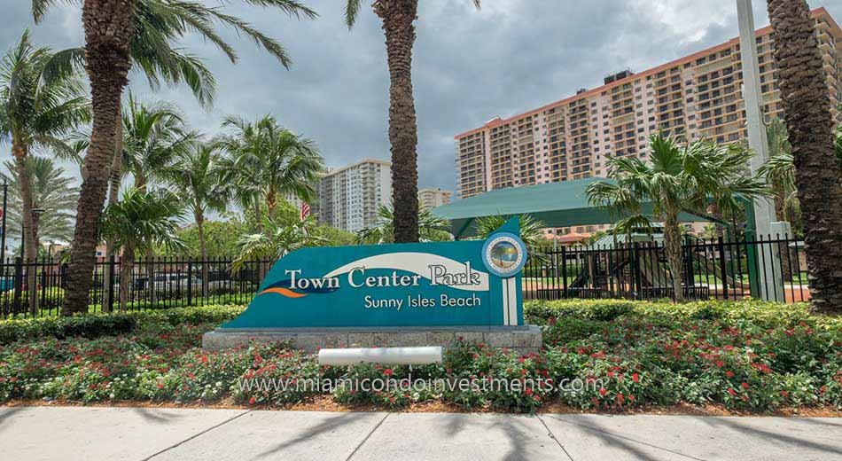 Town Center Park in Sunny Isles Beach