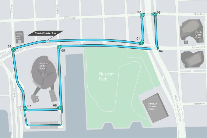 Formula E Miami ePrix Race Course