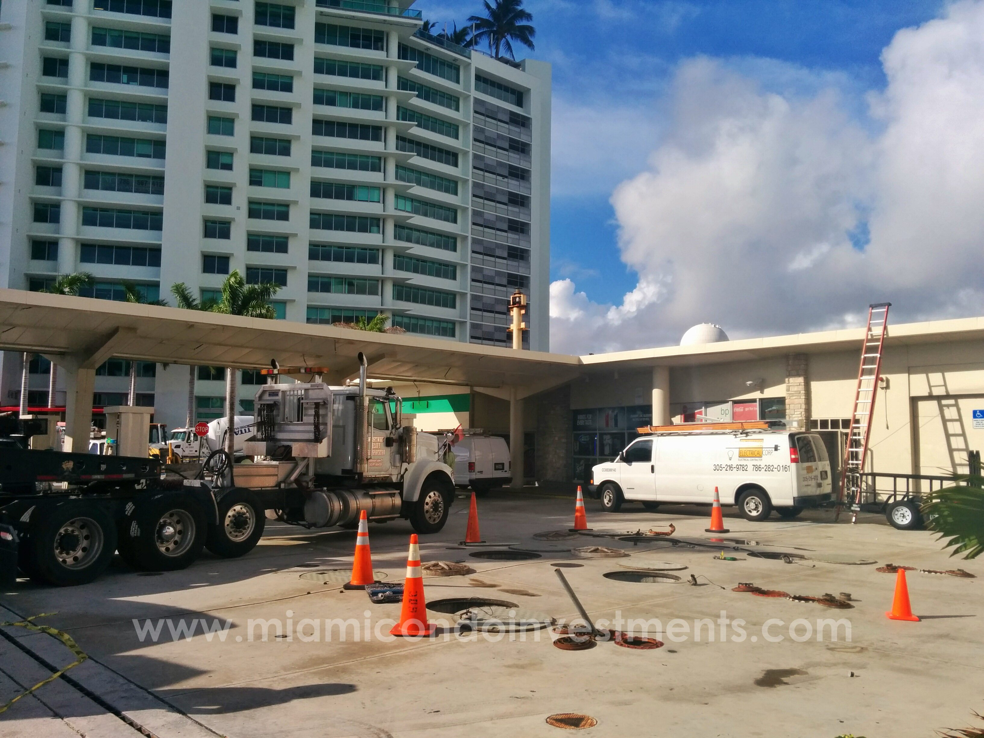 BP gas station closes at 10th street and biscayne