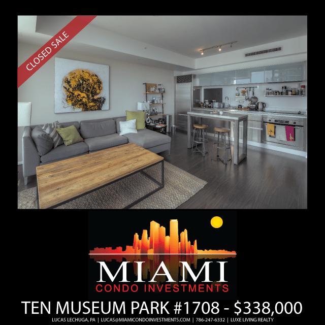 Ten Museum Park Unit 1708 Just Sold
