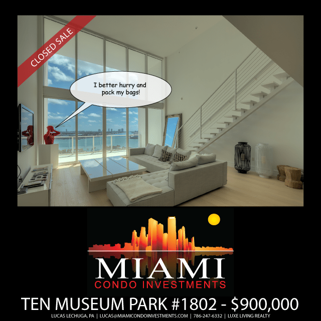 Ten Museum Park Unit 1802 Just Sold