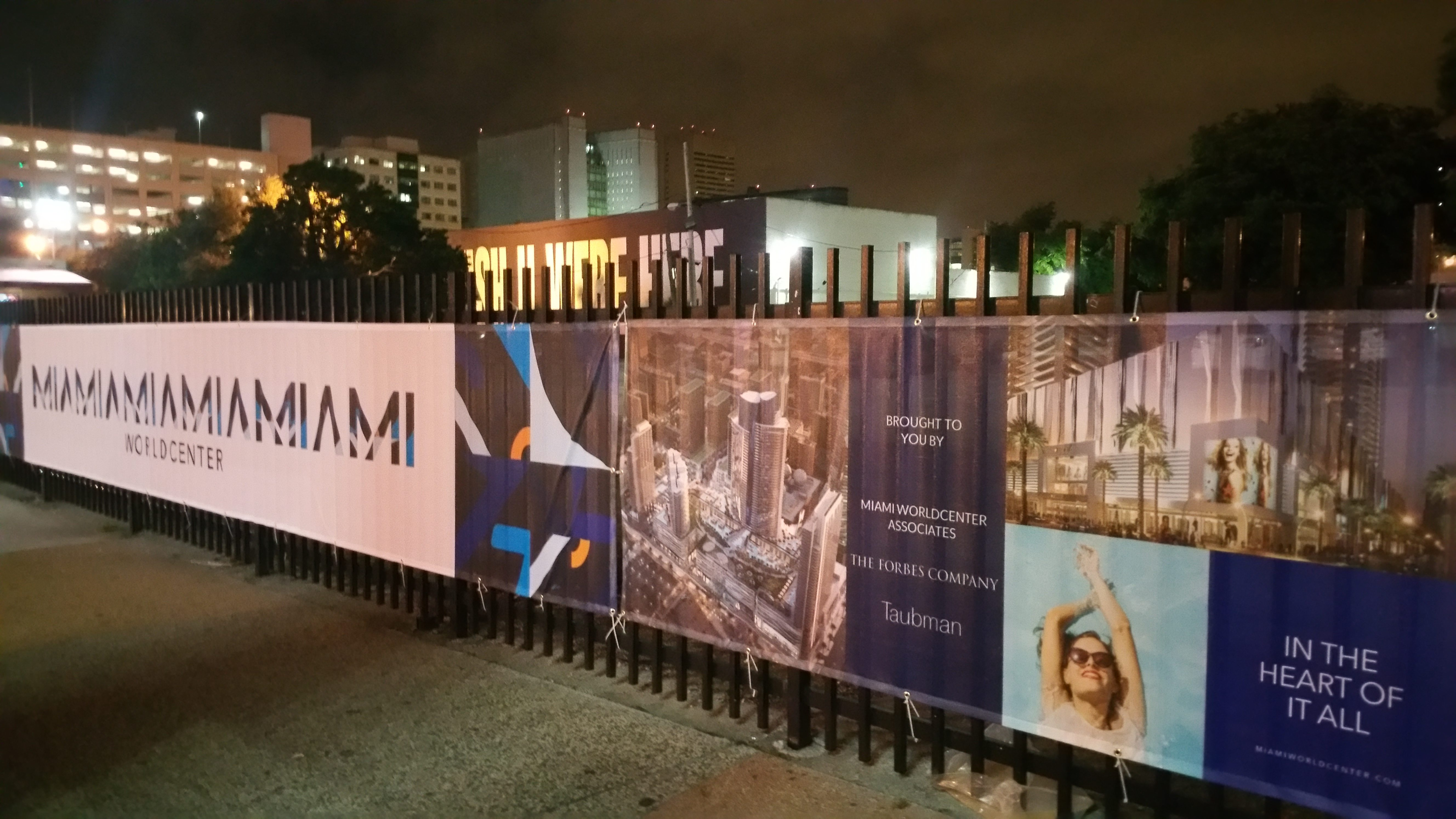 Miami Worldcenter banners