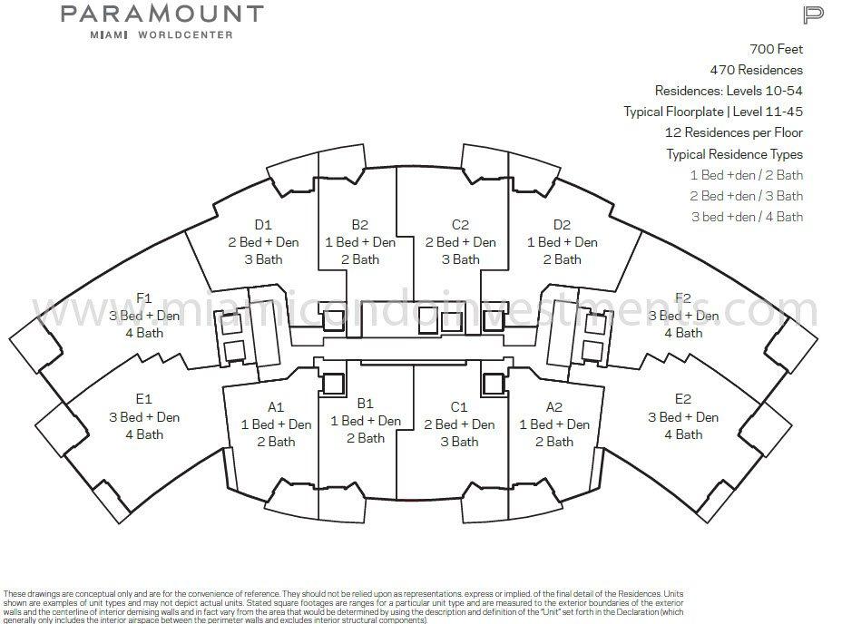 Paramount Miami Worldcenter site plan key
