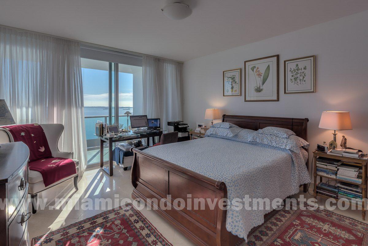 Jade at Brickell Bay unit 1105 bedroom