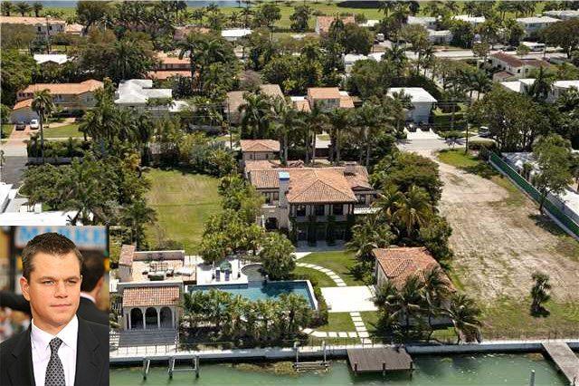 Matt Damon 6020 North Bay Road Miami Beach Home