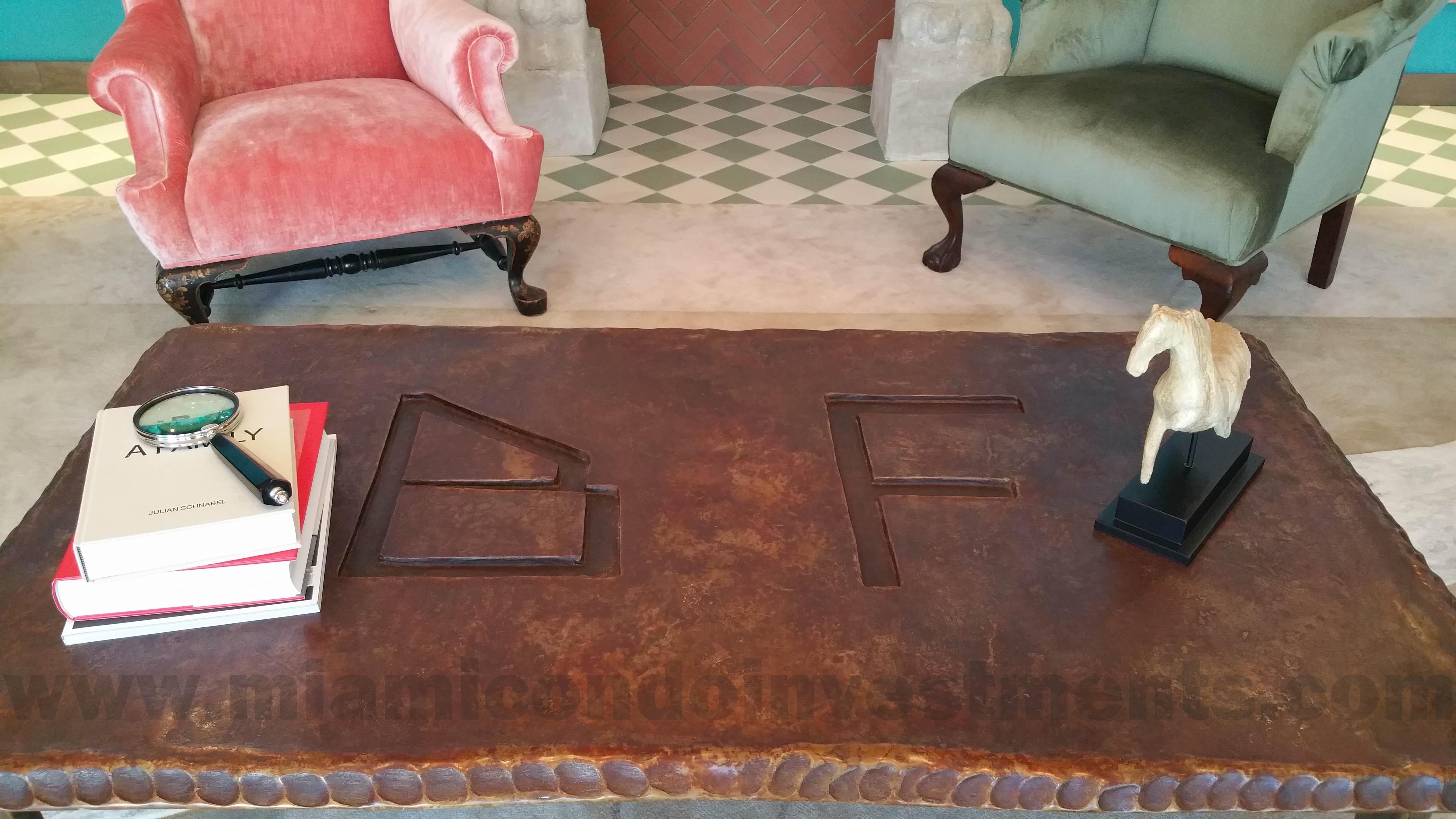 Brickell Flatiron coffee table
