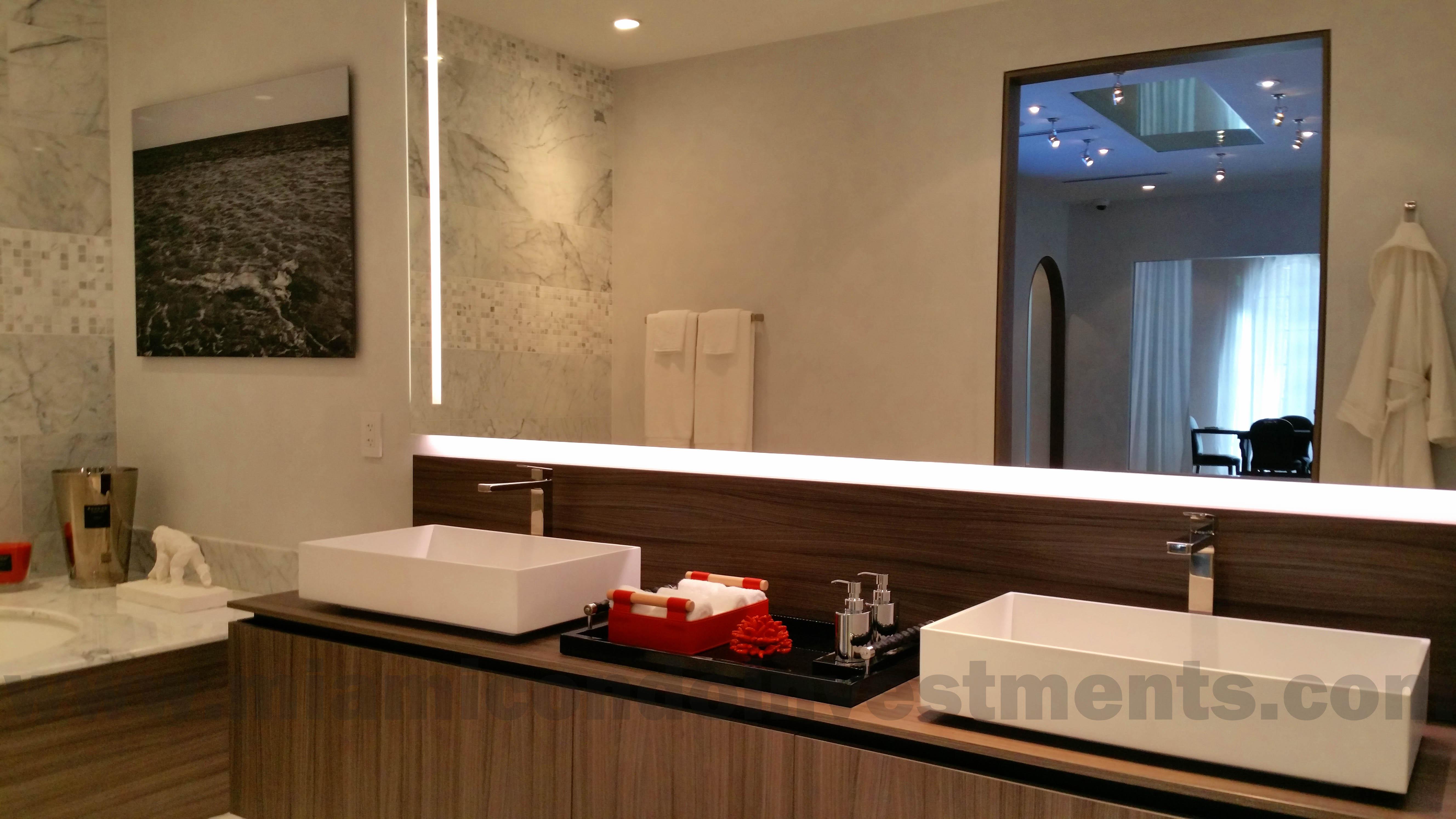 Brickell Flatiron double vanity in master bath