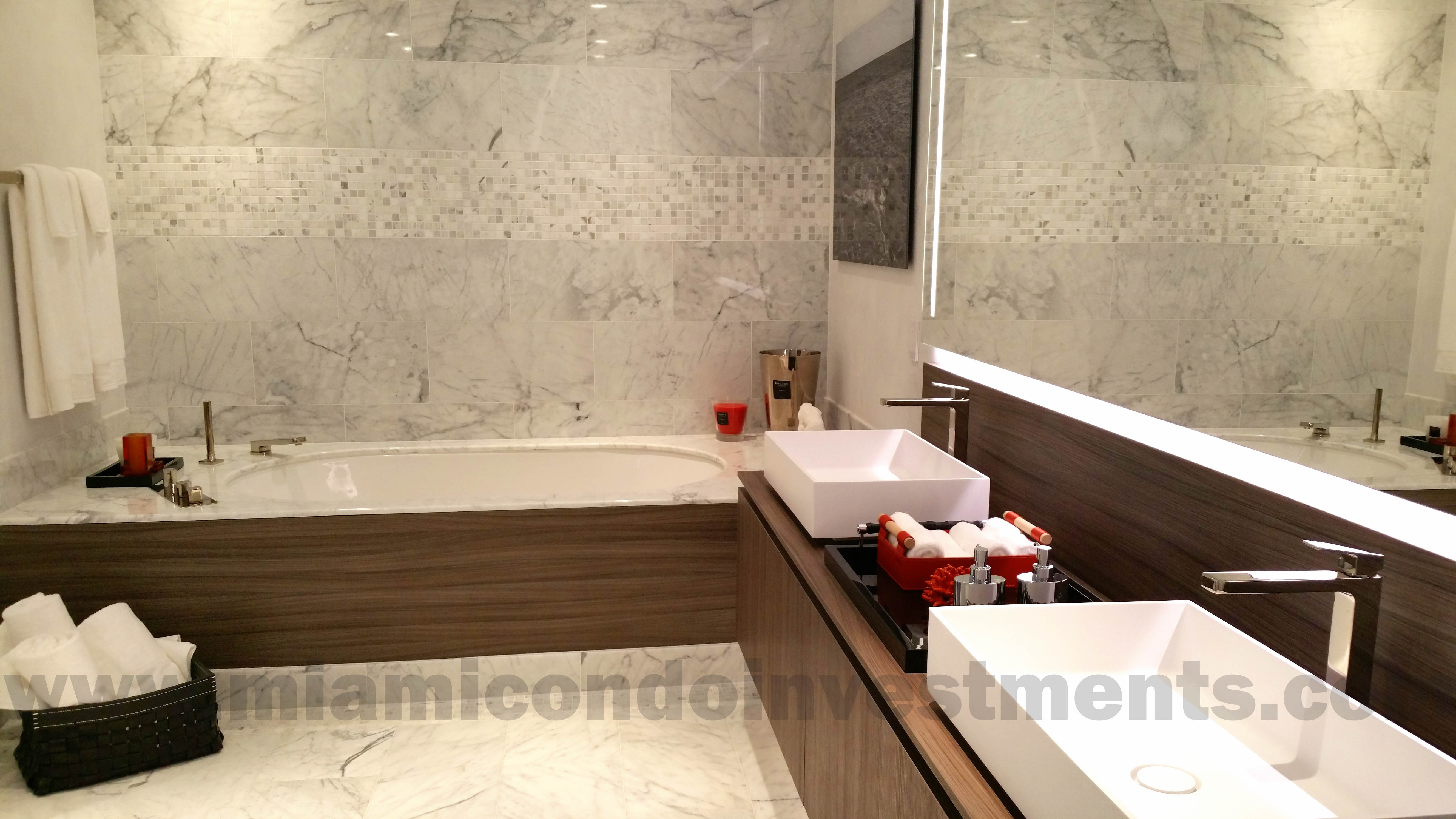 Brickell Flatiron master bath