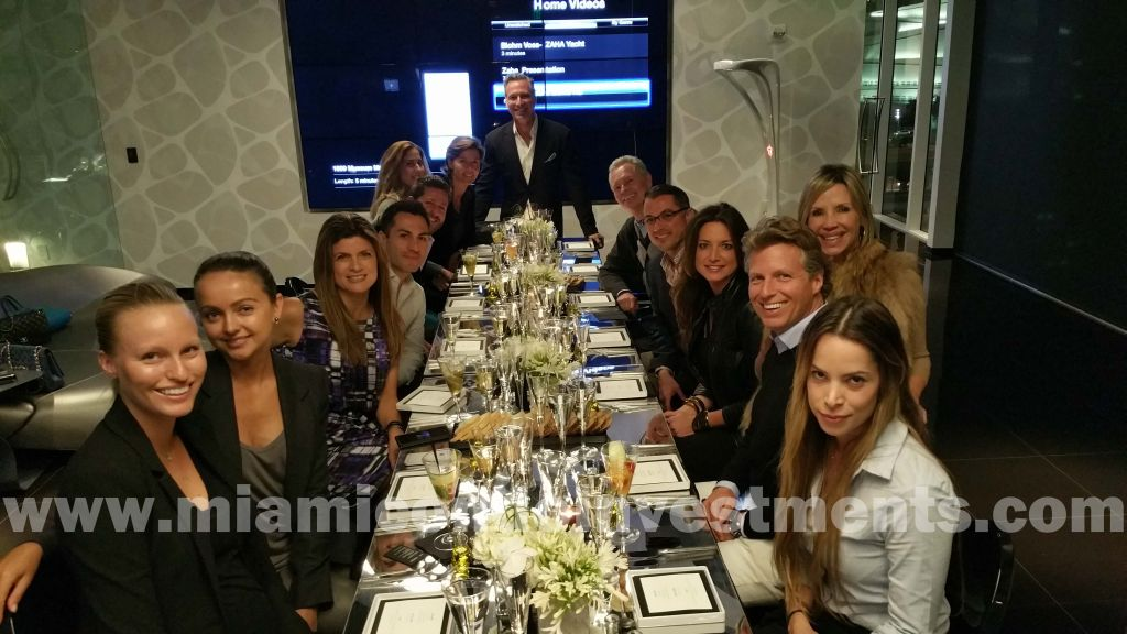 Luxe Living Realty agents at One Thousand Museum dinner event
