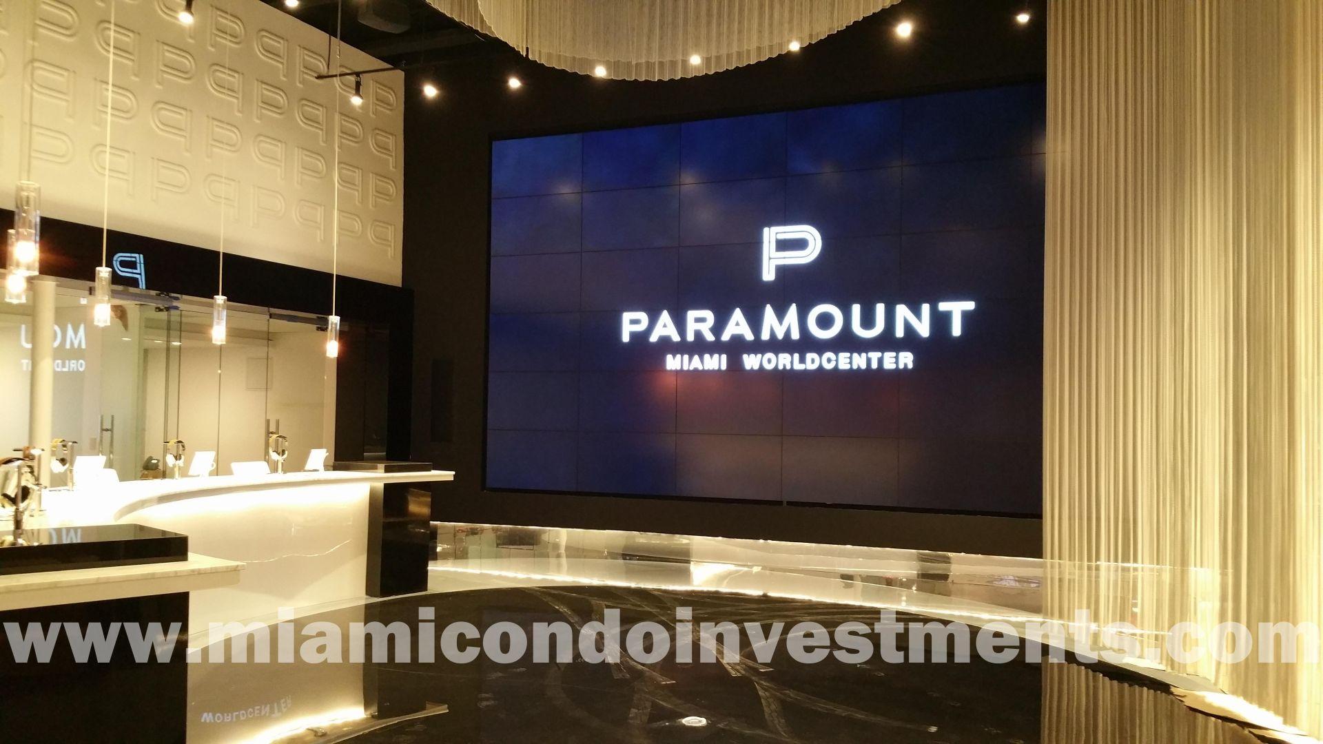 Paramount Miami Worldcenter sales center
