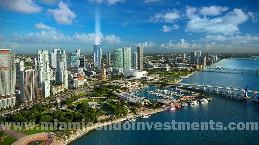 Aerial View of Paramount Miami Worldcenter