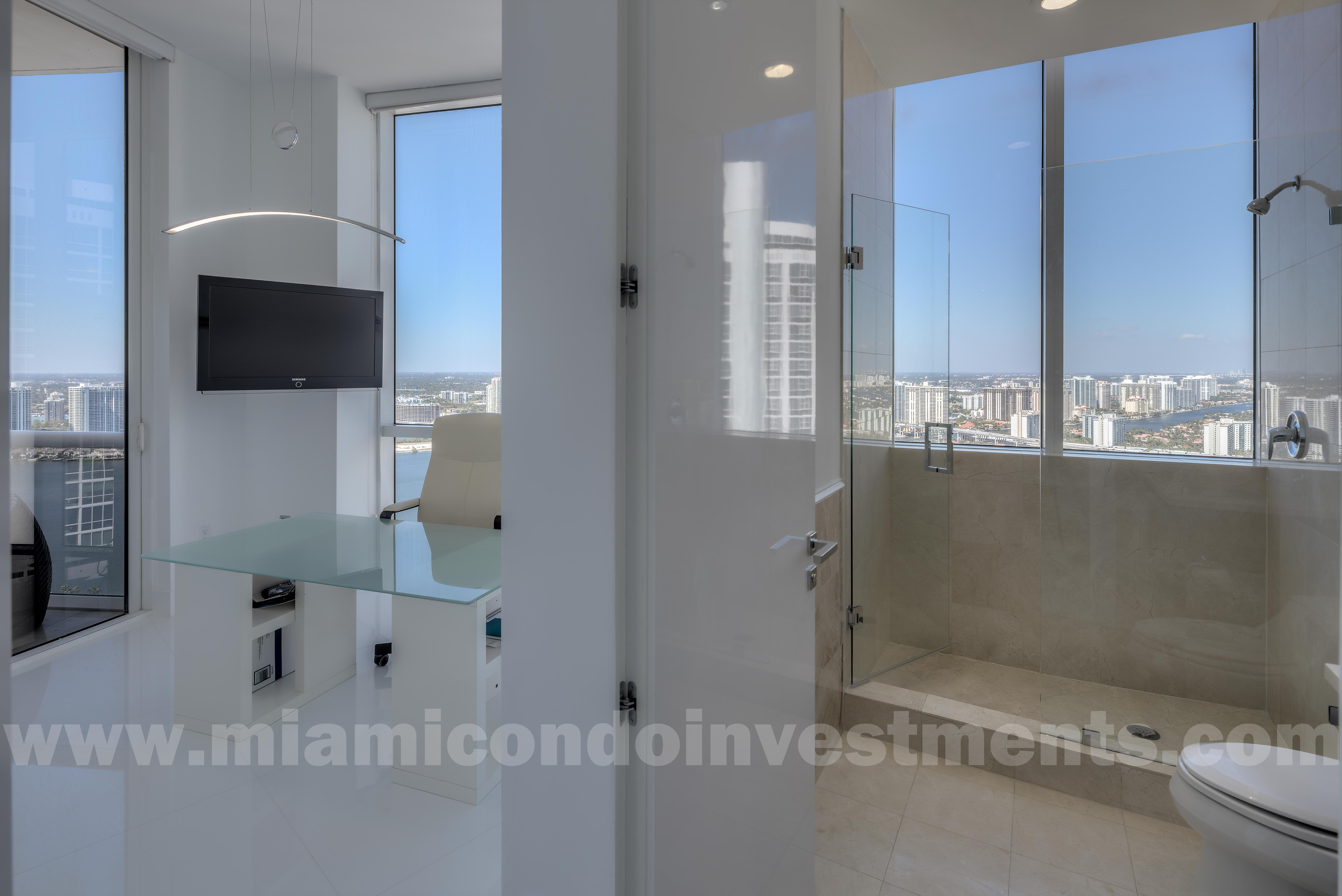 view of intracoastal waterway from second bedroom and bathroom