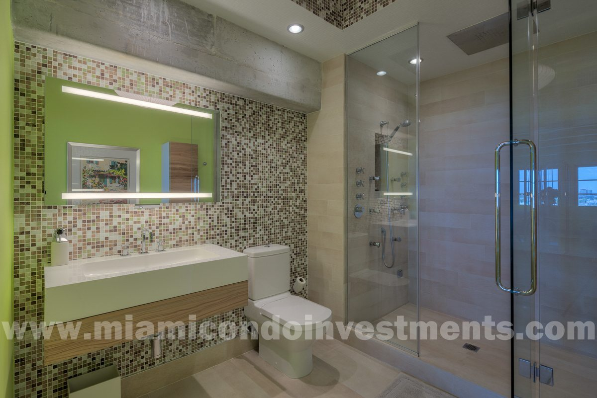 Master Bath - fully renovated & beautifully redesigned. Features steam shower with body jets and rainfall shower head.