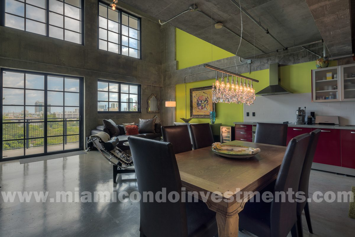 Showroom-quality 1 bed/1.5 bath bi-level loft at Parc Lofts. Over $150K in upgrades, furniture, lighting, & renovations.