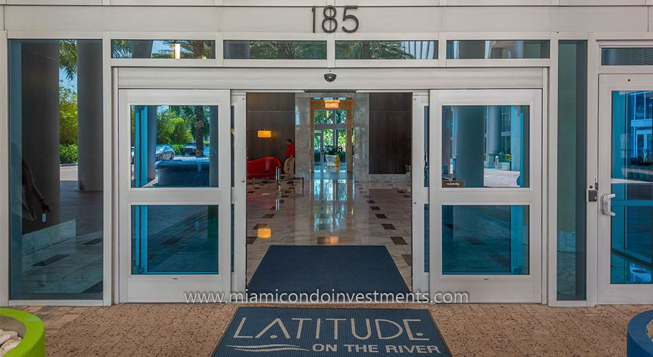 Latitude on the River lobby entrance
